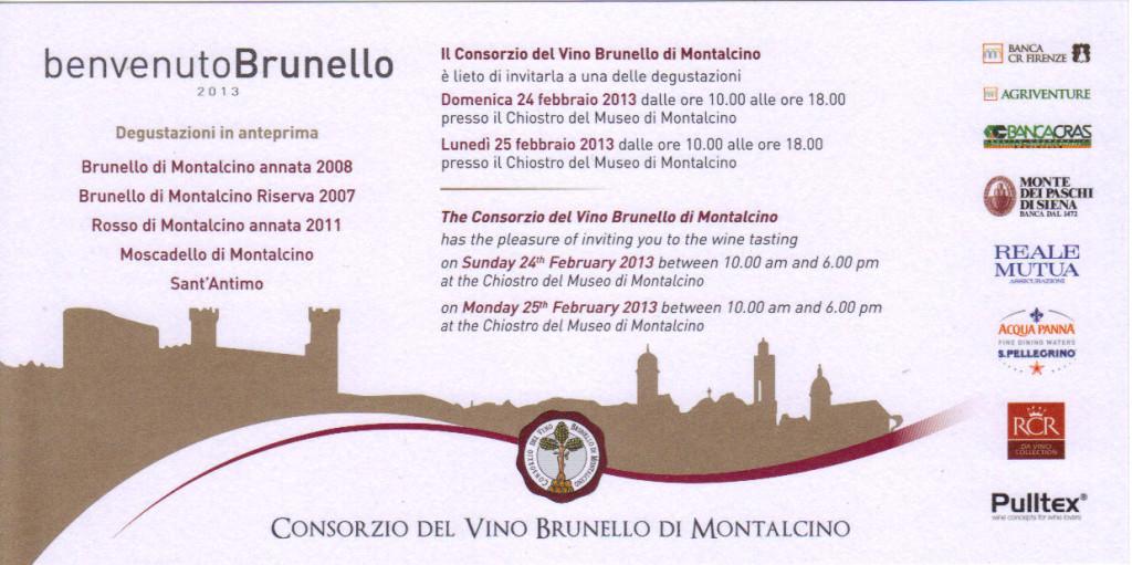 Invito Benvenuto Brunello 2012