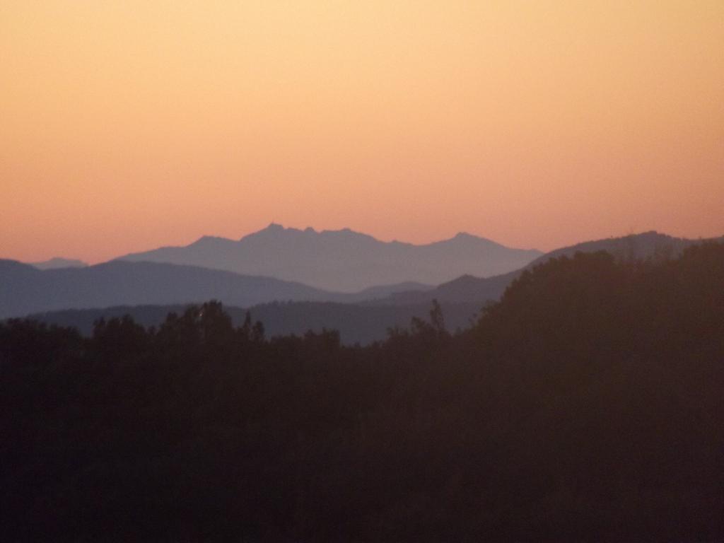 Il Monte Cinto fotografato al tramonto